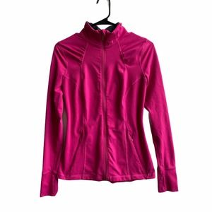 Under Armor Fitted Pink Zip Track Jacket